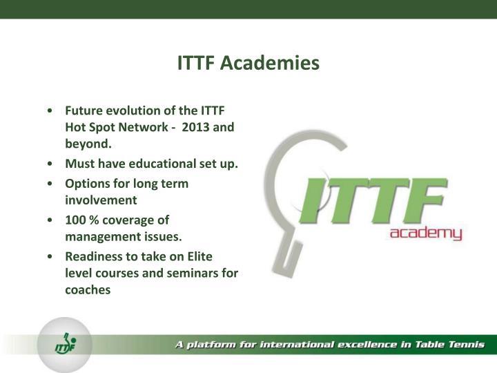 ITTF Academies