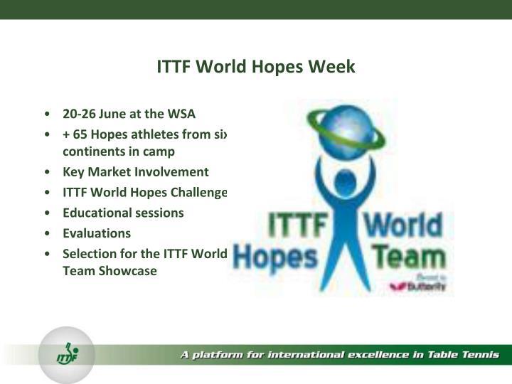 ITTF World Hopes Week