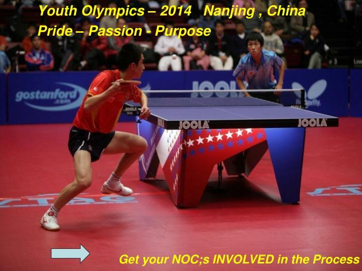 Youth Olympics – 2014   Nanjing , China