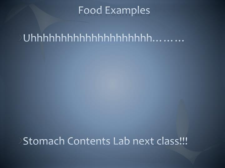 Food Examples
