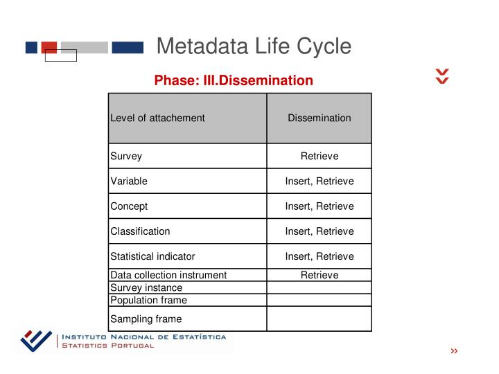 Metadata Life Cycle