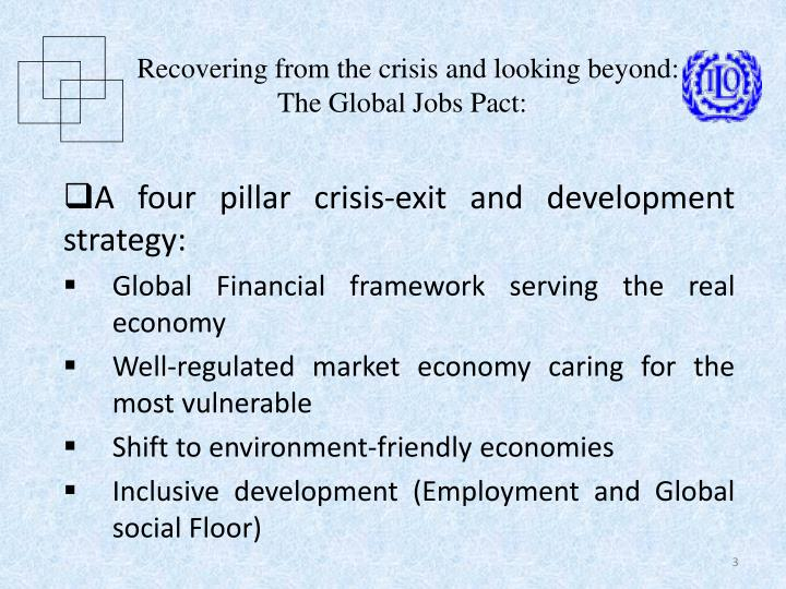 Recovering from the crisis and looking beyond the global jobs pact