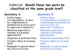 exercise should these two posts be classified at the same grade level