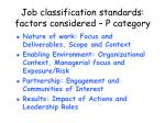 job classification standards factors considered p category