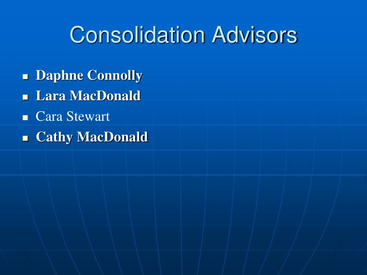 Consolidation Advisors