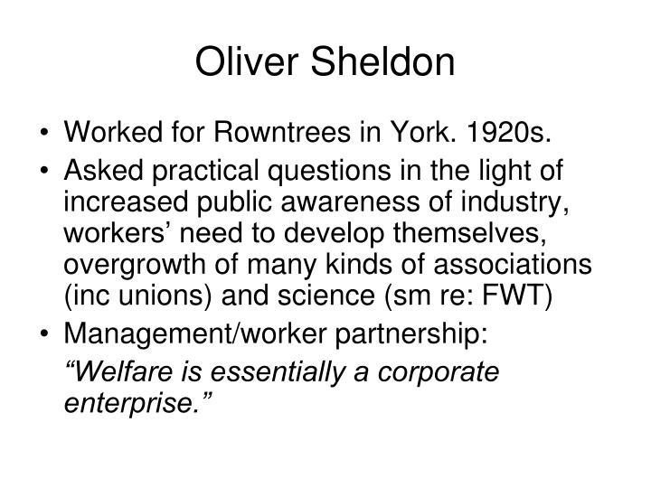 Oliver Sheldon