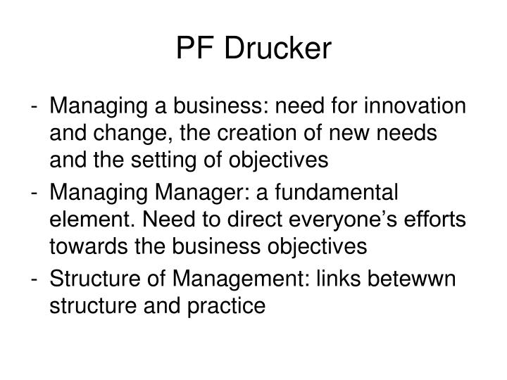 PF Drucker