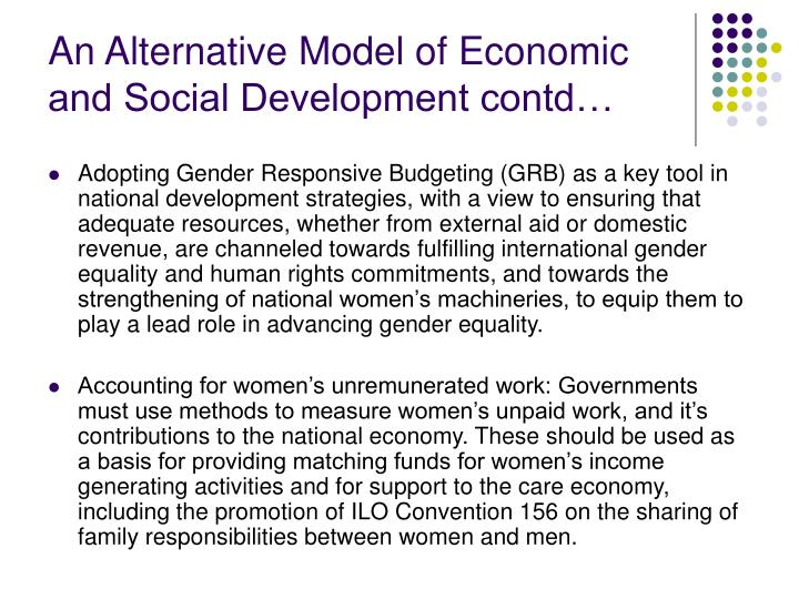 An Alternative Model of Economic and Social Development contd…