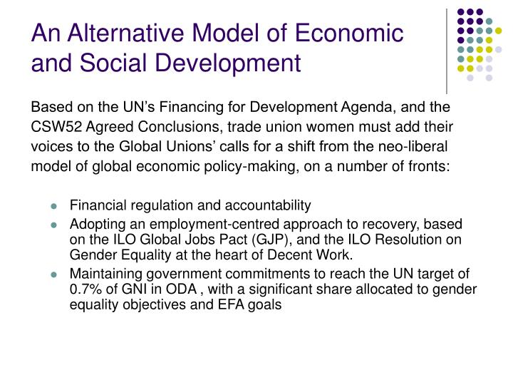 An Alternative Model of Economic and Social Development
