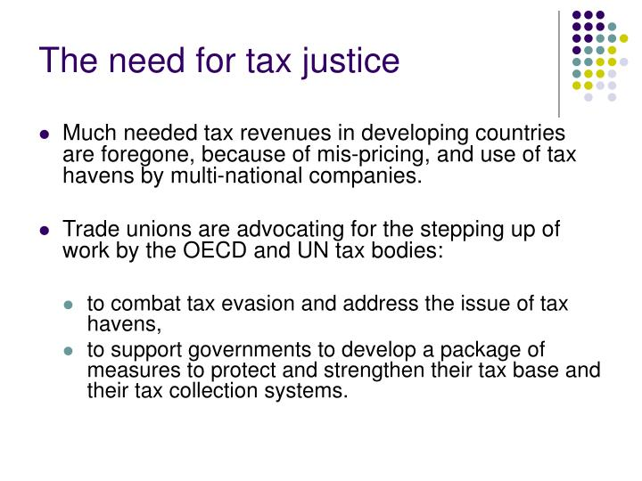 The need for tax justice