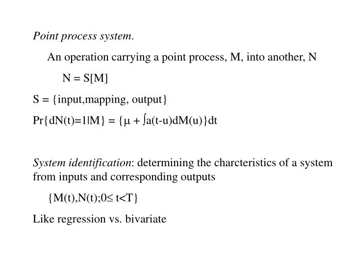 Point process system