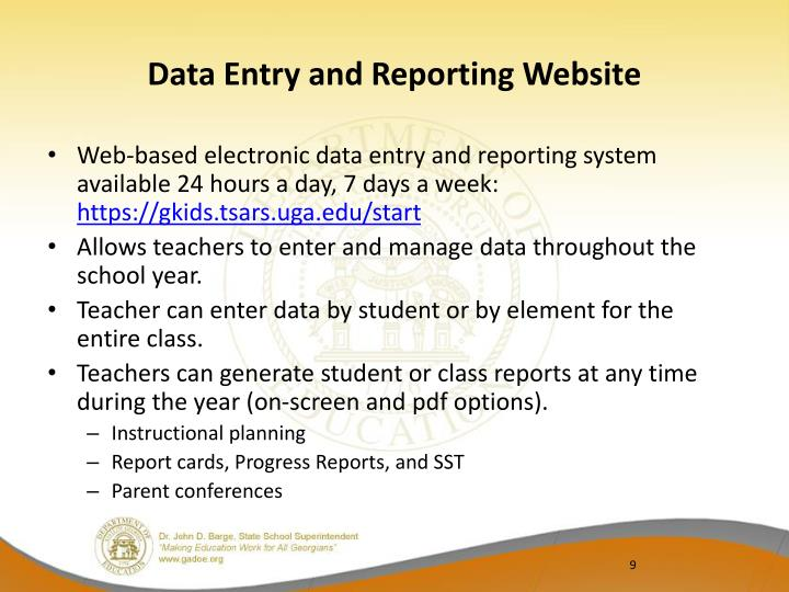 Data Entry and Reporting Website