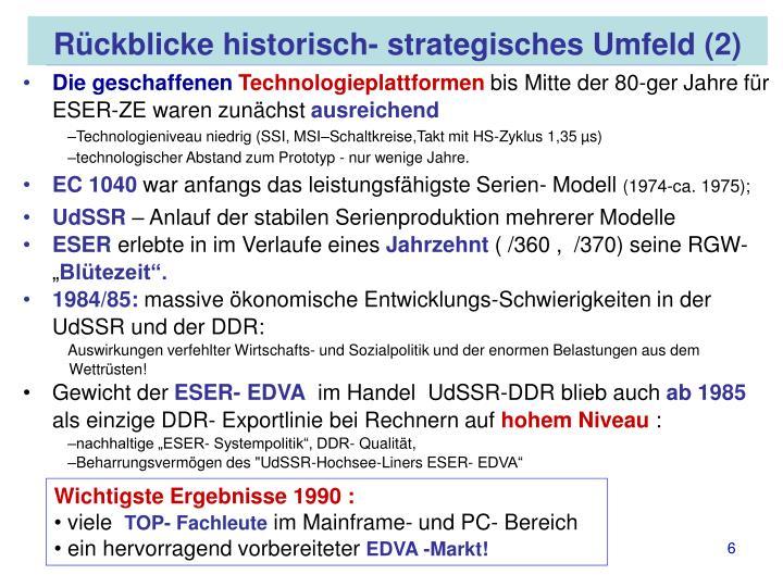 Rückblicke historisch- strategisches Umfeld (2)