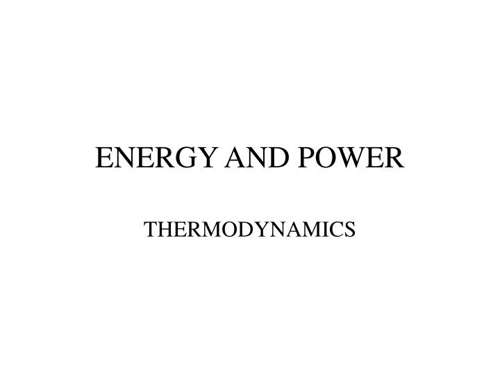 energy and power n.