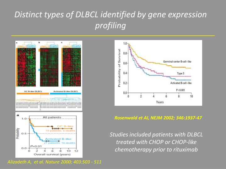 Distinct types of DLBCL identified by gene expression profiling