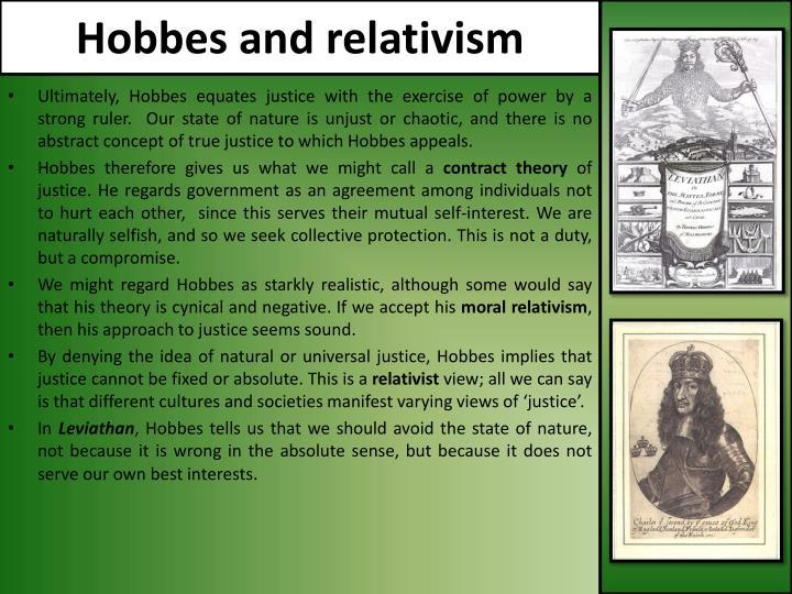 Hobbes and relativism