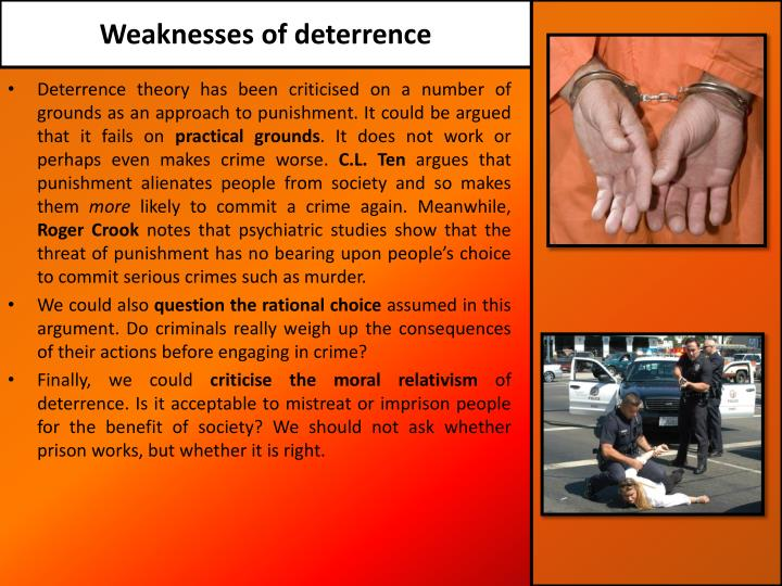 Weaknesses of deterrence