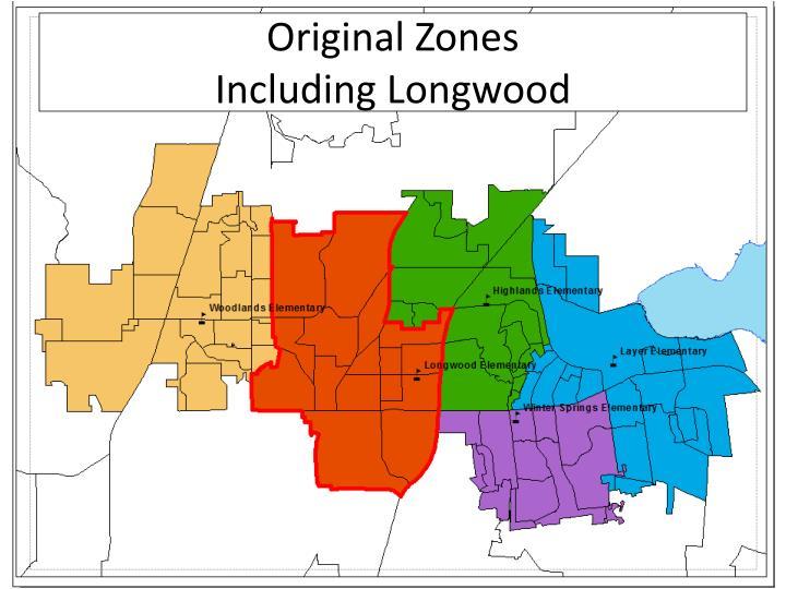 Original zones including longwood