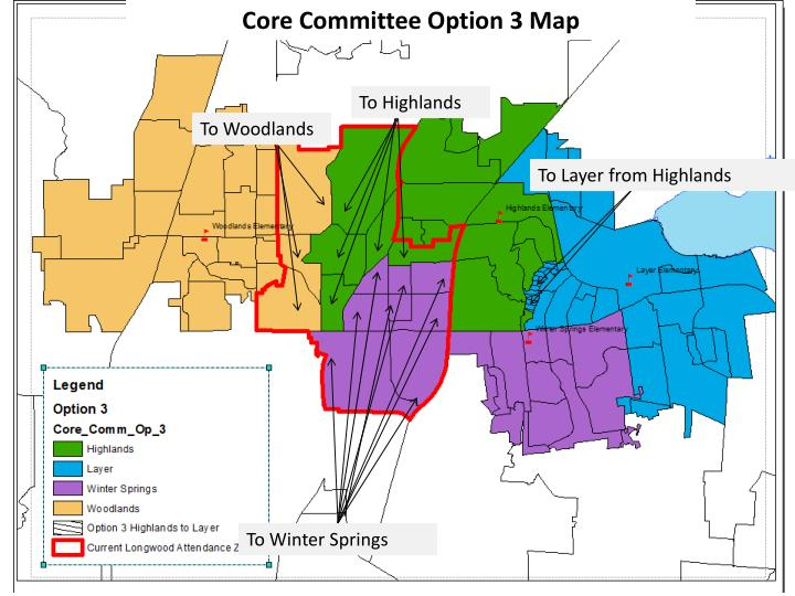 Core Committee Option 3 Map