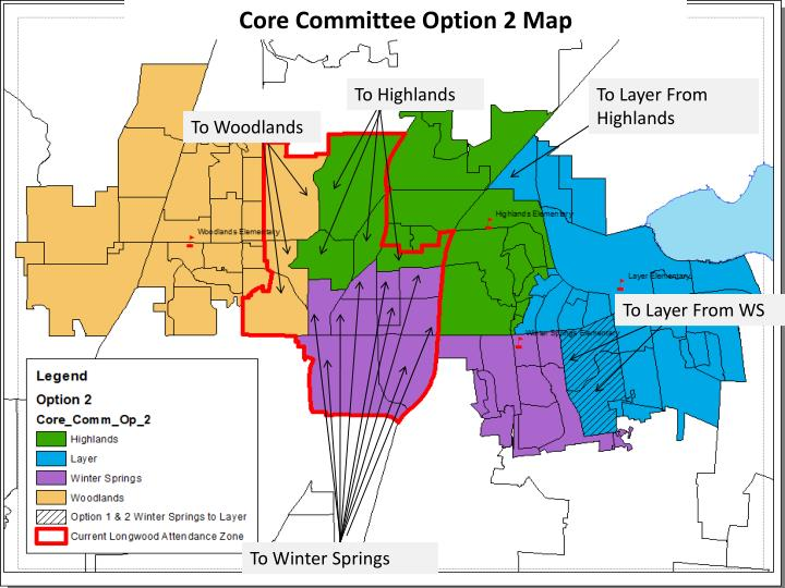 Core Committee Option 2 Map