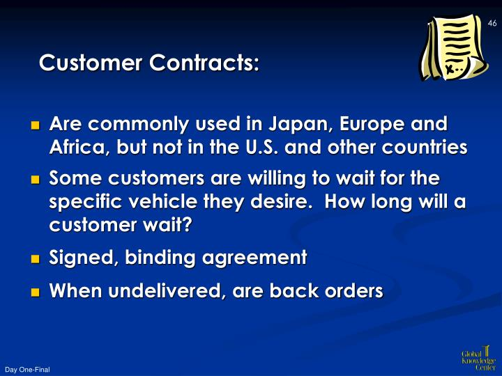 Customer Contracts:
