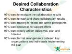 desired collaboration characteristics