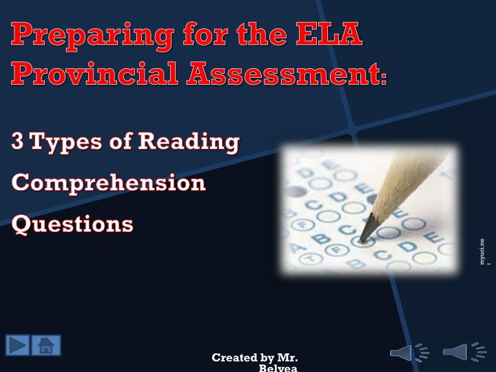 3 types of reading comprehension questions