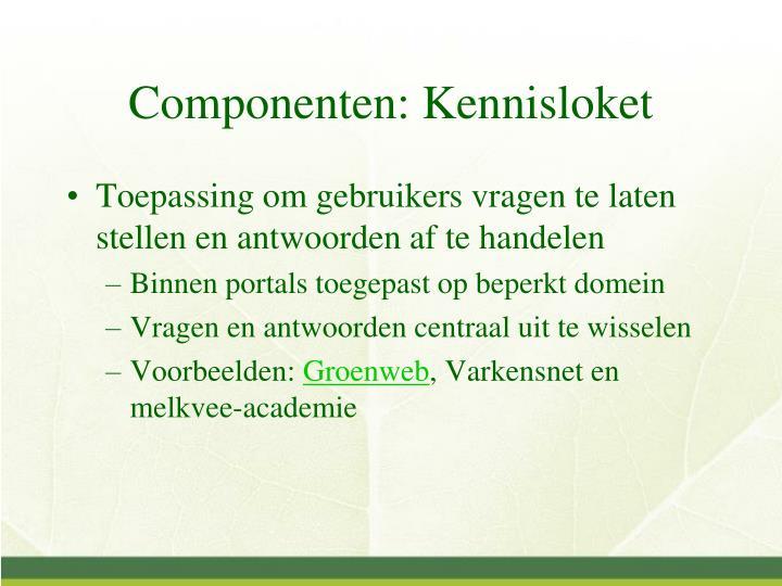 Componenten: Kennisloket