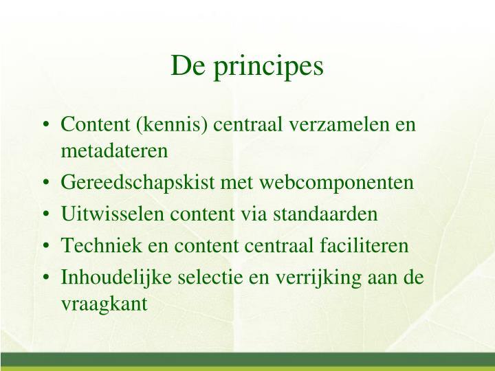 De principes1
