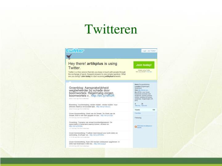 Twitteren