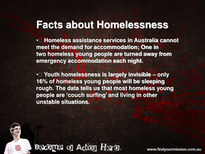 Facts about Homelessness