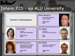 intern pid via alu university