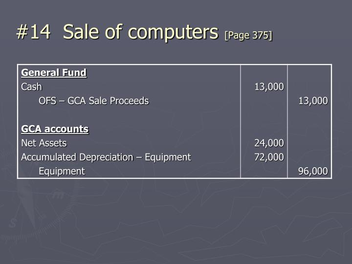 #14  Sale of computers