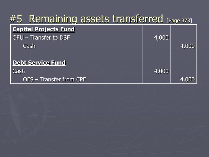 #5  Remaining assets transferred