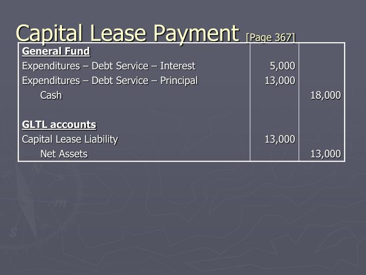 Capital Lease Payment