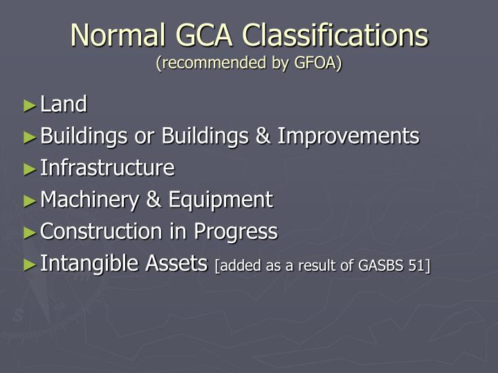Normal GCA Classifications