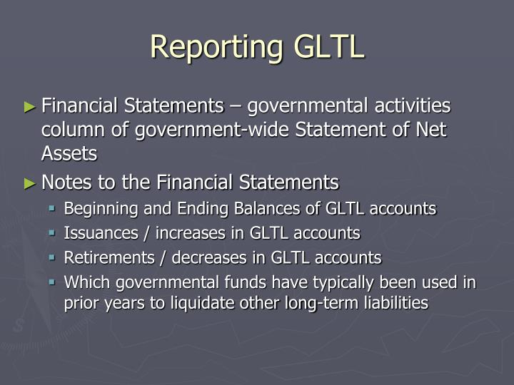 Reporting GLTL