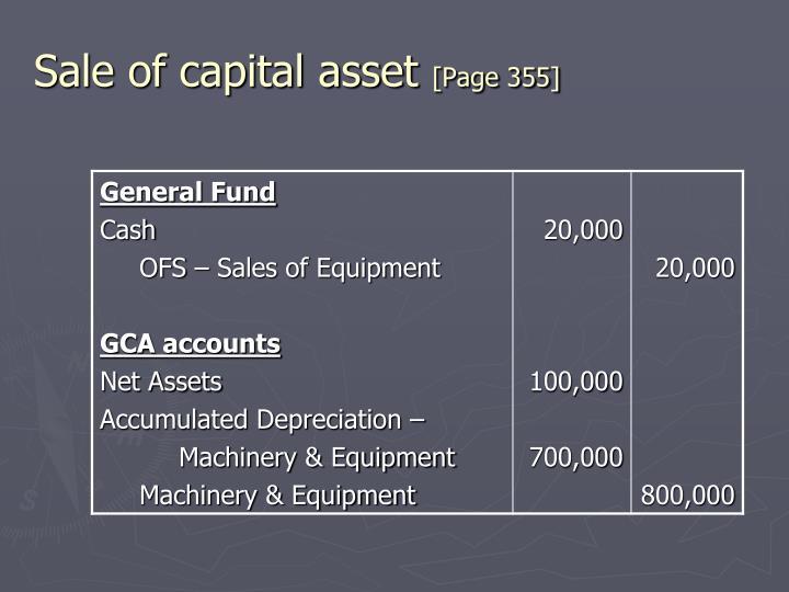 Sale of capital asset