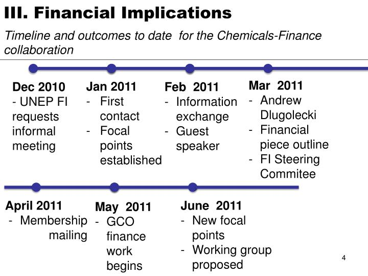 III. Financial Implications
