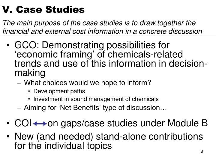 V. Case Studies