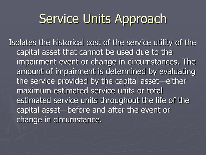Service Units Approach
