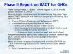 phase ii report on bact for ghgs