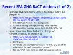 recent epa ghg bact actions 1 of 2
