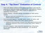 step 4 top down evaluation of controls