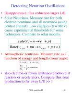 detecting neutrino oscillations