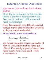 detecting neutrino oscillations1