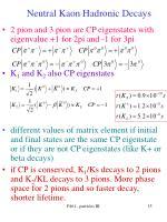 neutral kaon hadronic decays1