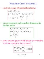 neutrino cross sections ii