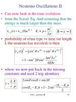 neutrino oscillations ii