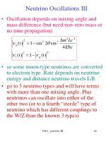 neutrino oscillations iii